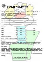 Clubs Reg Form